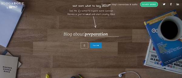 Blog Title Generator by BlogAbout